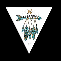 Triângulo - Flecha Boho Coragem