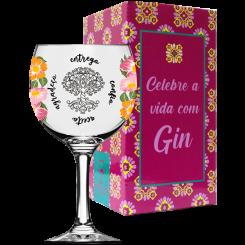 TAÇA DE GIN - HO'OPONOPONO FLORAL