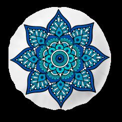 Almofada Shape - Mandala Azul