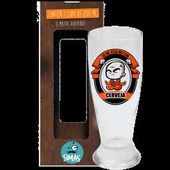Copo de Cerveja 200ml + cx - Acalmo Com Cerveja