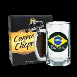 Caneco de Chopp Com Campainha 340ml + cx - Brasil Estilizado