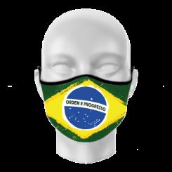 Máscara de Proteção - Bandeira do Brasil