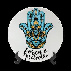 Prato Decorativo 11cm - Força e Proteção