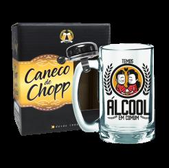 Caneco de Chopp Com Campainha 340ml + cx - Álcool Em Comum
