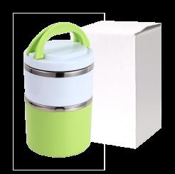 Marmita de Inox Verde Com 2 Compartimentos