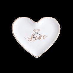 Mini Prato Porta Coisas e Joias - Love Diamante