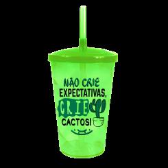 Copo Canudo Twister - Crie Cactos