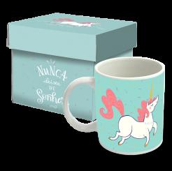 Caneca Verde - Unicornio Sonhos