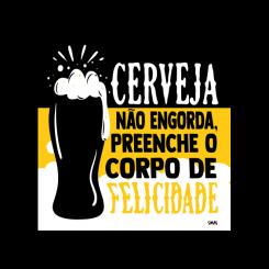 Quadro - Cerveja Não Engorda
