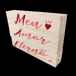 Kit Bloco de Madeira - Mãe Eterno Amor
