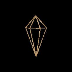 Prisma Dourado Em Metal Pequeno