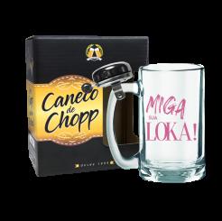 Caneco de Chopp Com Campainha 340ml + cx - Miga Sua Loka