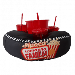 Almofada de Pipoca Redonda - Pipoca Tamanho Família