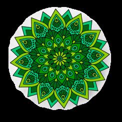 Almofada Shape - Mandala Verde