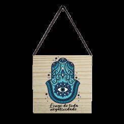 Quadro Decorativo Quadrado - Mandala Azul