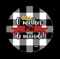 QUADRO REDONDO - MELHOR PAI