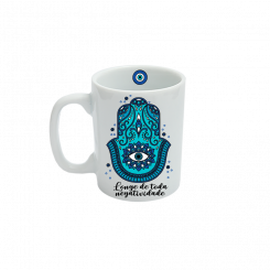 Caneca Pequena - Mandala Azul