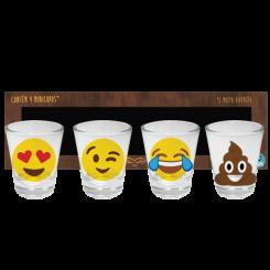 Copo Shot Kit Com 4un 60ml - Emoji