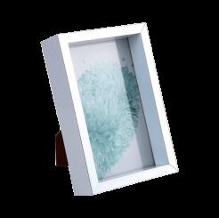 Porta Retrato Pequeno de Vidro  10 X 15  - Prata