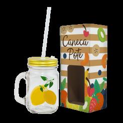 Caneca Pote 470 ml - Tropical Limão