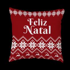 CAPA DE ALMOFADA - NATAL ENCANTADO FELIZ