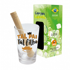 Copo Drink - Kit Caipirinha 350ml + Soquete -cx - Tal Pai Tal Filho