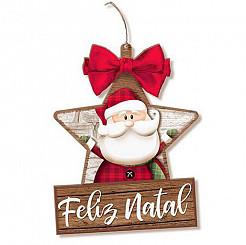 Enfeite Estrela - Papai Noel