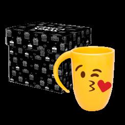 Caneca Fall Amarela - Emoji Beijo