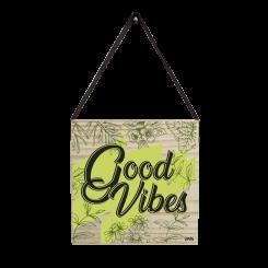 Quadro Decorativo Quadrado - Good Vibes