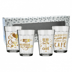 Copo Americano Kit c/ 4 Unid - Café