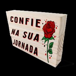 Kit Bloco de Madeira - Confie Na Jornada