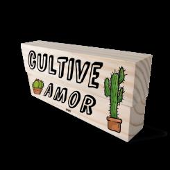Kit Bloco de Madeira - Cultive O Amor