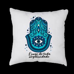 Capa de Almofada - Mandala Azul