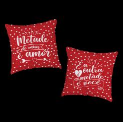 KIT C/ 2 CAPAS DE ALMOFADAS - METADE DE MIM