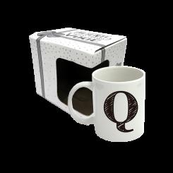 CANECA 300ML C/ CX -  LETRA Q