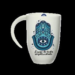 Caneca Fall Branca - Mandala Azul