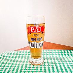 Copo de Cerveja 200ml + cx - Pai Melhor Amigo