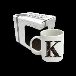 CANECA 300ML C/ CX -  LETRA K