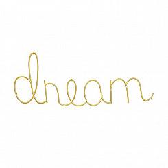 Dream Dourado Em Metal