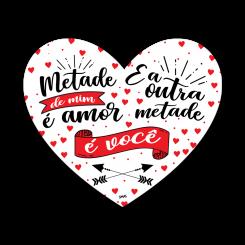 QUADRO CORAÇÃO - METADE DE MIM