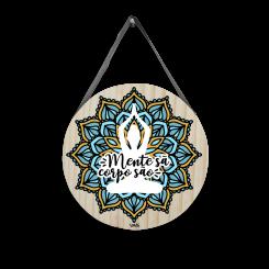 Quadro Decorativo Redondo - Mandala Mente