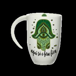Caneca Fall Branca - Mandala Verde