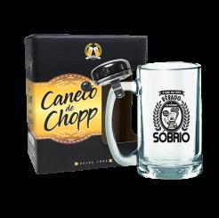 Caneco de Chopp Com Campainha 340ml + cx - Pensando Sóbrio