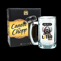 Caneco de Chopp Com Campainha 340ml + cx - Litro Aberto