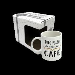 CANECA 300ML + CX - TUDO POSSO DEPOIS DO CAFÉ