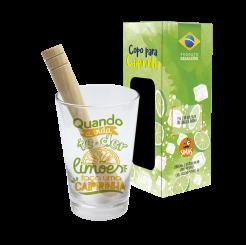 Copo Drink Kit Caipirinha 350ml + Soquete + cx -  Faça Caipirinha