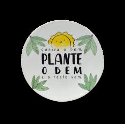 Prato Decorativo 11cm -  Good Vibes Plante O Bem