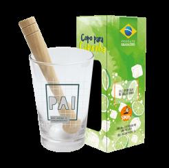 Copo Drink - Kit Caipirinha 350ml + Soquete -cx - Pai Exemplo