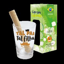Copo Drink - Kit Caipirinha 350ml + Soquete -cx - Tal Pai Tal Filha