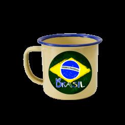 Caneca Esmaltada - Brasil Estilizado